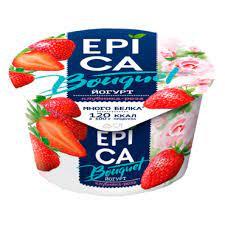 Йогурт EPICA 130г мдж 4.8% клубника бзмж.п/ст.