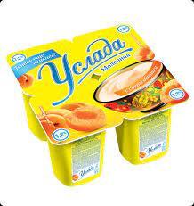 Йогуртный продукт пастер. Услада молочная с соком абрикоса 1.2%  95г