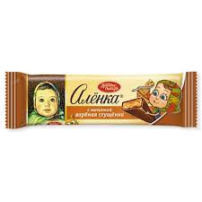 Шоколад Аленка с нач. вареная сгущенка 48г. Красный октябрь