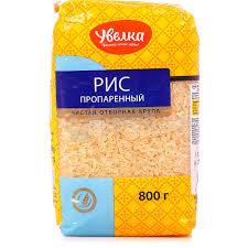 Рис длиннозерный пропаренный 800гр м/у Увелка
