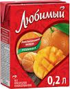 Напиток сокосодержащий Апельсиновое Манго 0.2л. д/п Любимый*