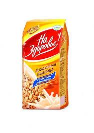 Воздушная пшеница с медом 175г пак. На Здоровье