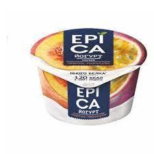Йогурт EPICA 130г мдж 4.8% персик-маракуйя бзмж п/ст.