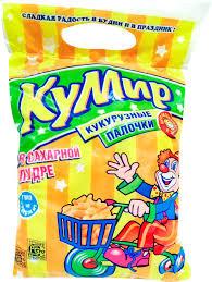 Кукурузные палочки Кумир с сахарной пудрой 50г м/у