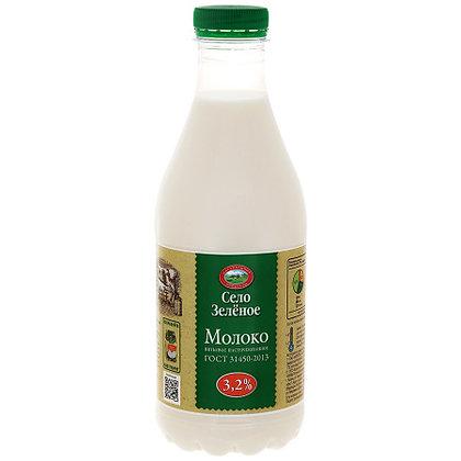 Молоко 3.2% бзмж 0.903л п/б Село Зеленое