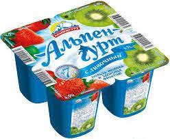 Йогуртный продукт Сочный сливочный клубника 5% бзмж 95г  Альпенгурт