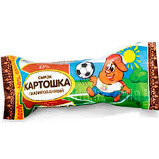 Продукт  глазированный ВА-а-ау Картошка с какао и печеньем 23%ж 75г Лактомелия