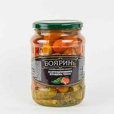Ассорти (томаты+огурцы) 720мл ст/б Бояринъ*