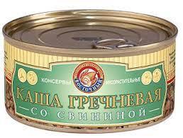 ВСТ Каша гречневая со свининой 325г ж/б ООО Восточный