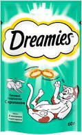 DREAMIES MIX Лакомство д/кошек с кроликом 60г  *
