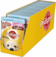 Pedigree для щенков с ягнёнком в соусе 85г *