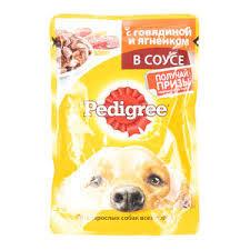 Pedigree для всех пород собак 85г говядина/ягненок в соусе*