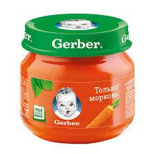 Пюре Морковь 80гр ст/б Gerber *