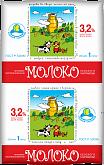 Молоко 3.2% бзмж 1л (1.03кг) Кез