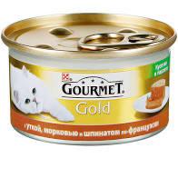 Gourmet Голд террин с уткой/морковью и шпинатом 85г ж/б *