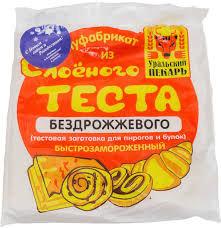 Тесто бездрожжевое 0.5кг Уральский пекарь