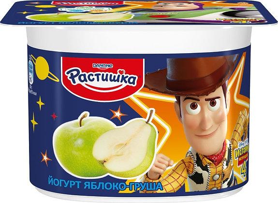 Йогурт Растишка  ж 3% 110г. малина/банан БЗМЖ