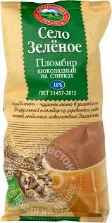 Ст.ваф Село Зеленое Пломбир шоколадный 90гр Иж