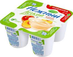 Йогуртный продукт Нежный с соком персика 0.1%  95г  Campina