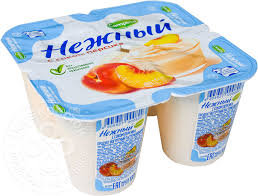 Йогуртный продукт Нежный с соком персика 1.2% бзмж 100г  Campina