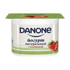 Данон йогурт нат.2.9% 110г Клубника