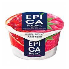 Йогурт EPICA 130г мдж 4.8% гранат /малина