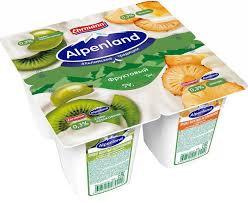 Йогурт прод .Альпенленд  киви/крыж. /ананас 0.3 % 95 г