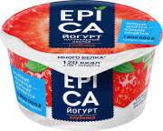 Йогурт EPICA 130г мдж 4.8% клубника/экстракт розы