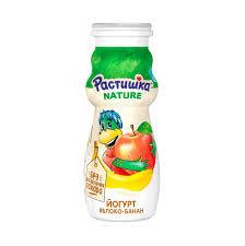 Йогурт питьевой Растишка 1.6%  бзмж 90г яблоко/банан