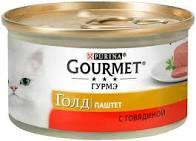 Gourmet Голд паштет с говядиной 85г ж/б *