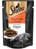 Sheba телятина/язык ломтики в соусе 85г *