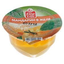 Желе Fine Life  мандарин 150г. пл/ст.