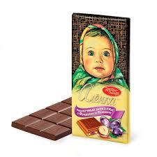 Шоколад АЛЕНКА  фундук/изюм  90г