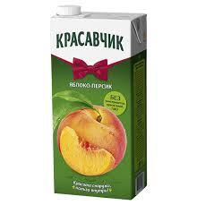 Красавчик  Нектар с мякотью Яблоко-персик 1.9л т/п*