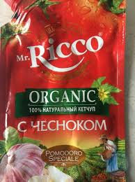 Кетчуп Mr.Ricco с чесноком 350гр д/пак