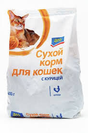 Aro корм сухой для кошек с курицей 400г. м/у