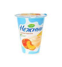 Йогурт. прод. с соком персика Нежный 0.1% 320г стак. Campina