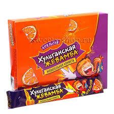 Жевательная конфета Жевамба  Хулиганская апельсин 12гр
