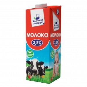 Молоко УПТ 3.2% 0.95л  с крыш. Молочный стандарт Нытва