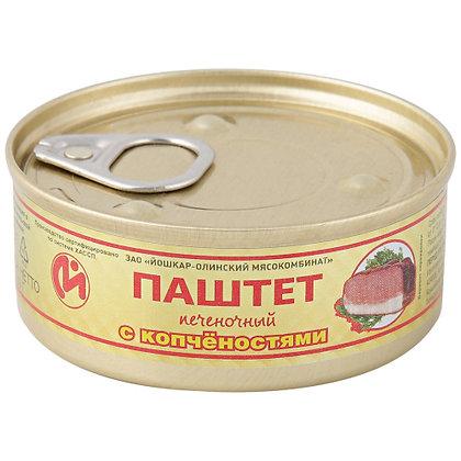 Паштет печеночный с копченостями 100г ж/б ключ ЗАО Йошкар-Олинский МК