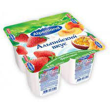 Йогуртный продукт пастер. Alpenland 0.3% бзмж 60г клубника
