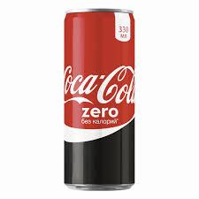 Кока-кола зеро 330мл ж/б*