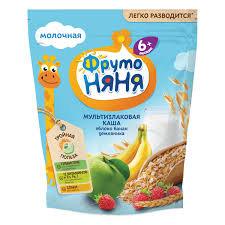Каша Мультизлаковая яблоко-банан-земляника 200мл Фрутоняня*