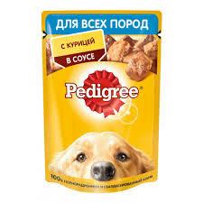Pedigree для всех пород собак 85г курица в соусе*