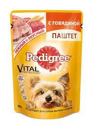 Pedigree для собак  паштет с говядиной  80 г