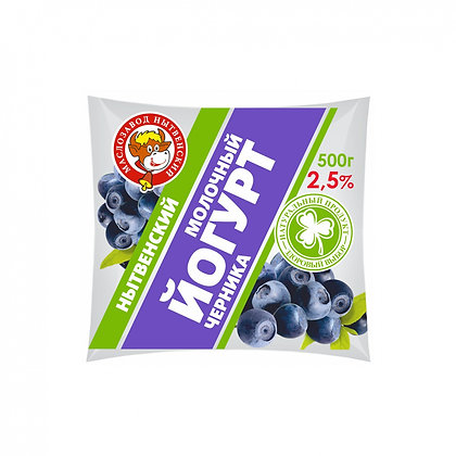Йогурт 2.5% бзмж 0.5л земляника.пл Нытва