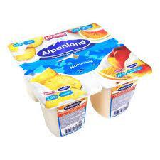 Йогуртный продукт пастер. Alpenland 2.5% бзмж 95г ананас/нектарин-апельсин