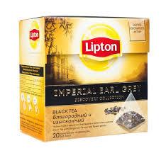 Чай Lipton черный Империал Эрл Грей пирам. 20пак*1.8г. *