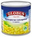 Кукуруза десертная 400г ж/б Глобосс *