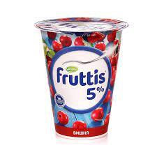 Fruttis Сливочное лакомство прод.йогуртный  вишня 5%  бзмж 290г